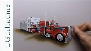 drawing of Peterbilt 379