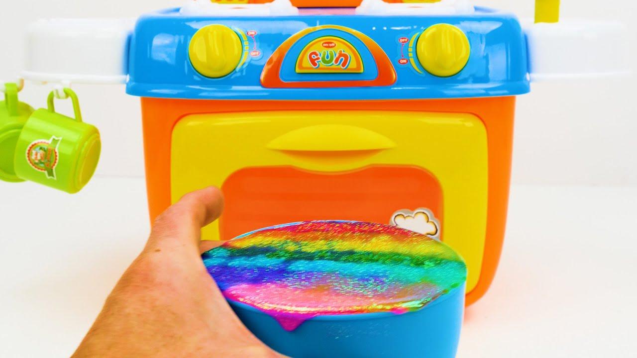 Toddlers के लिए खिलौना लर्निंग वीडियो - आकार, रंग, खाद्य नाम जानें, जन्मदिन केक के साथ गिनती! #1
