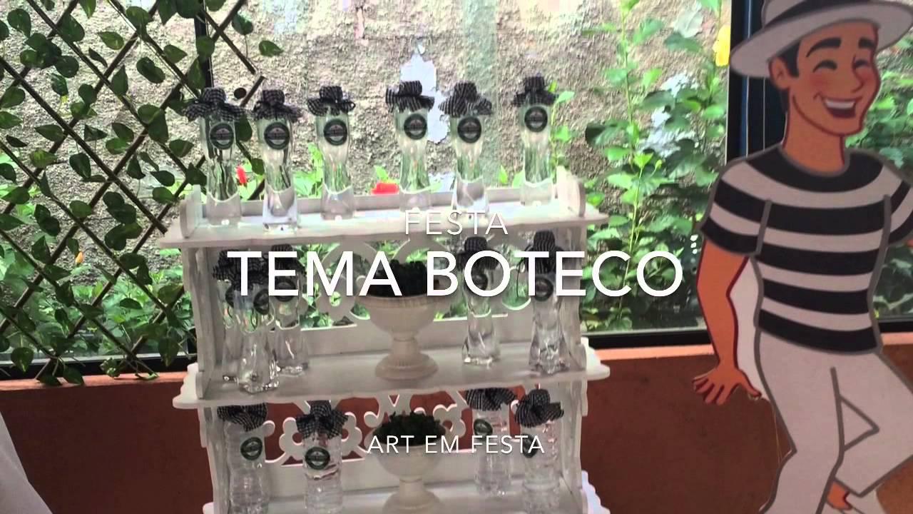 Festa tema boteco YouTube -> Decoração Para Festa Roda De Boteco
