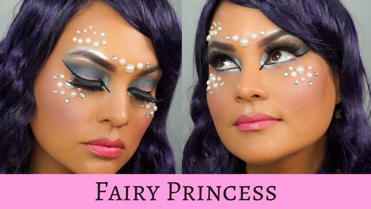 Snowflake fairy or ice queen makeup tutorial! Youtube.