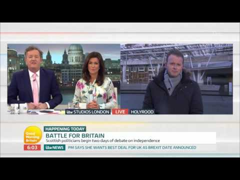 Scottish Parliament Expected to Support Second Independence Referendum | Good Morning Britain