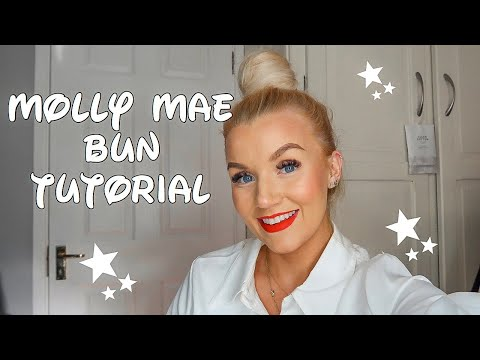 Molly Mae bun hair tutorial thumbnail