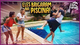 ELES BRIGARAM E CAÍRAM NA PISCINA!! - CASA DE FÉRIAS #45 [ REZENDE EVIL ]