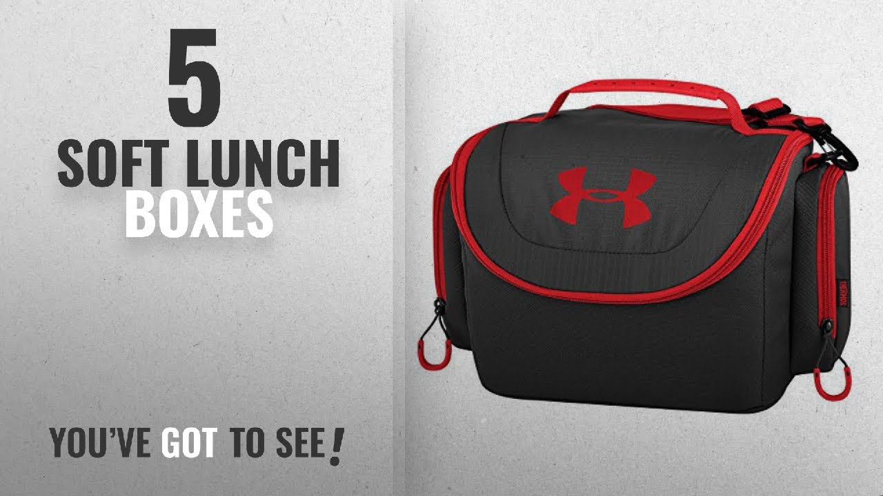 409d91f59c2d Best Soft Lunch Boxes [2018]: Under Armour 12 Can Soft Sided Cooler,  Black/Red