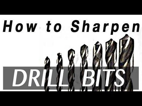 How To Sharpen Drill Bits Youtube