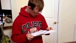 Rion Holcombe gets a special letter in the mail