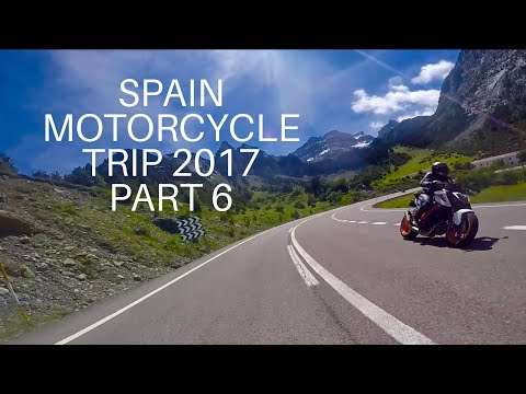 SPAIN MOTORCYCLE TRIP 2017 Part 6, Last day in the Pyrenees, inc- 2017 Super Duke R & Ducati 959