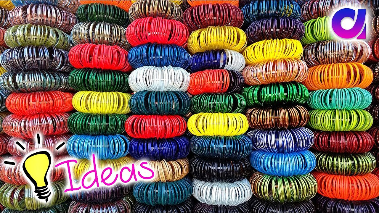 How To Reuse Waste Bangles Waste Bangles Craft Ideas
