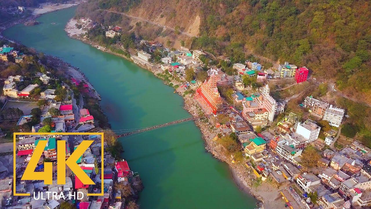 Rishikesh, Dehradun, Himalaya - 4K Urban Documentary Film - Trip to India (NO Narration)