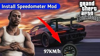 How To Get & Install Speedometer Mod For GTA San Andreas On Android | In Hindi/Urdu | Analog Mod