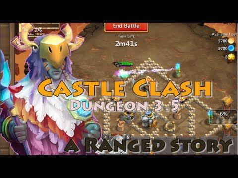 CASTLE CLASH DUNGEON 3.5 [5 RANGE HEROES]