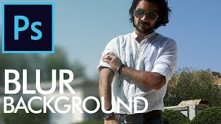 How to Blur Background in Adobe Photoshop - Urdu / Hindi