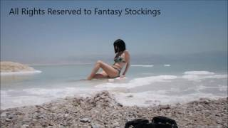 Tiny Wetlook Preview -  My Pantyhose Video at the Dead Sea -  Newsletter coming out June 18 2016