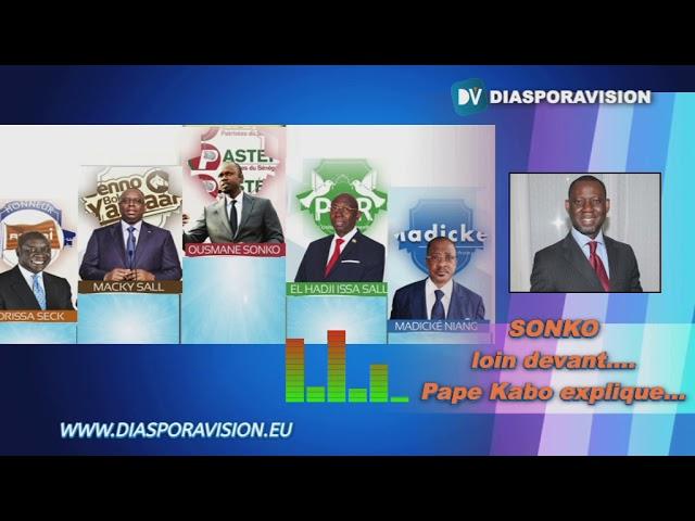 Présidentielle 2019, sondages -  SONKO loin devant les autres candidats, Pape Kabo explique