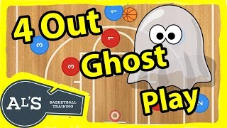 4 Out Ghost Screen and Roll Basketball Play
