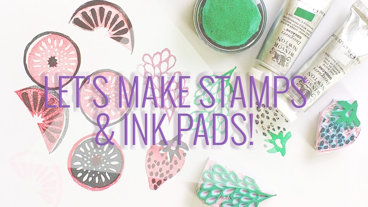Lets Make Stamps And Ink Pads DIY Using Old Up Supplies