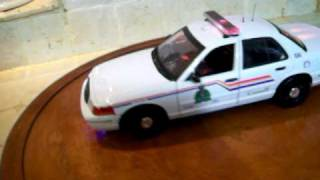1/18 RCMP Royal Canadian Mounted POLICE Diecast Car