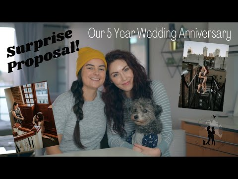 Our 5th Wedding Anniversary | Surprise Proposal | MARRIED LESBIAN COUPLE | Lez See the World