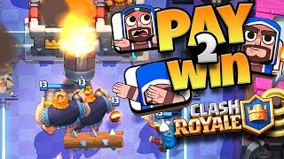 DABBING WIZARD EMOTE = PAY 2 WIN?? - Clash Royale