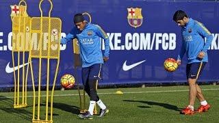 FC Barcelona training session: recovery session after the european victory