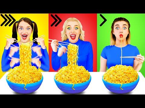 तेज मध्यम या धीमी खाद्य चुनौती Multi DO Challenge