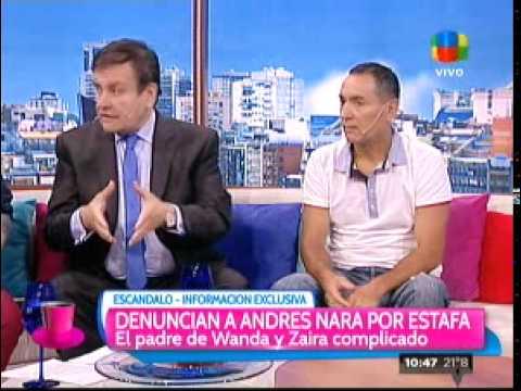 Denuncian por estafa a Andrés Nara