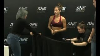 Angela Lee and Xiong Jing Nan - Weigh-Ins & Hydration Test - (ONE Championship: CENTURY - Part 1)