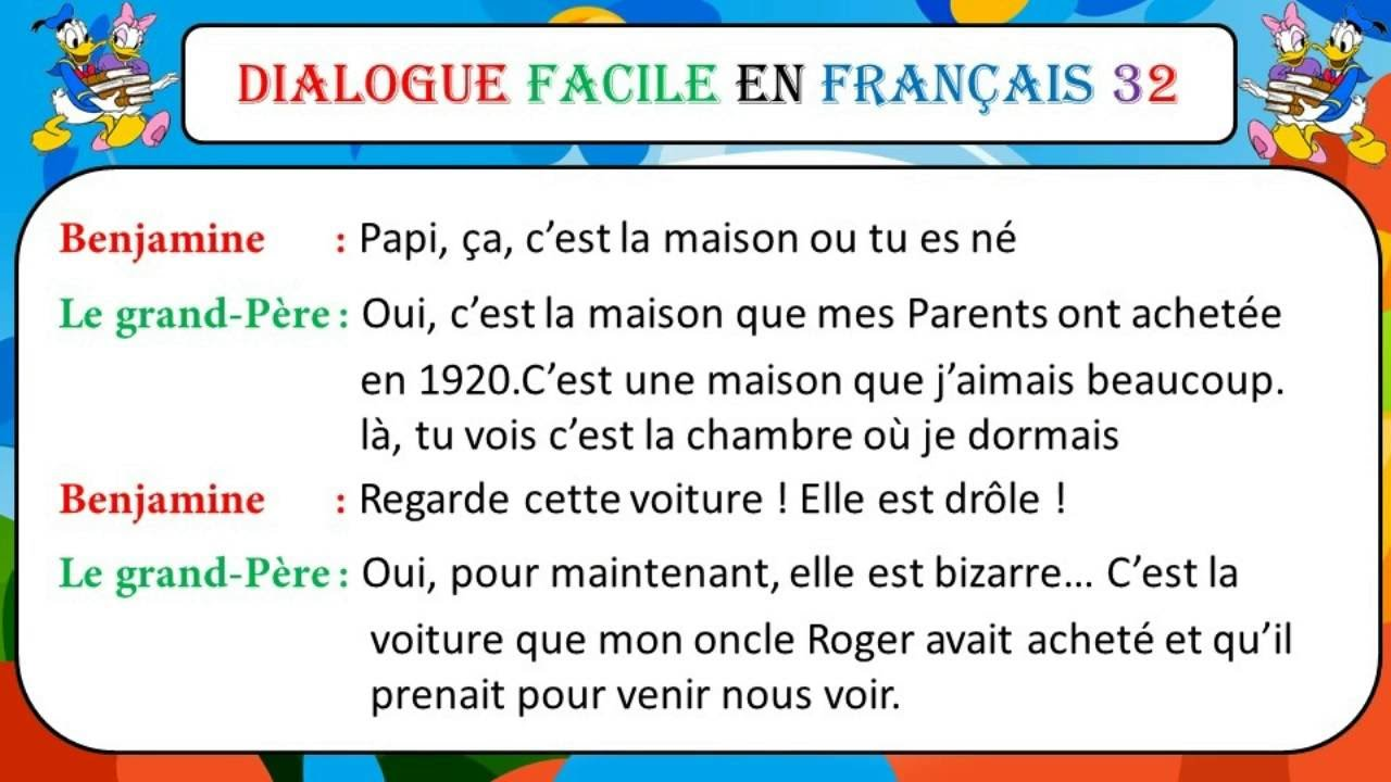 Sal9 En Francais Of Dialogue Facile En Fran Ais 32 Le Secret Pour Apprendre
