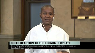 Green Party Leader Annamie Paul on the fall economic statement