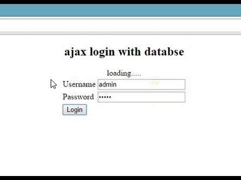 Ajax Login with PHP MySQL
