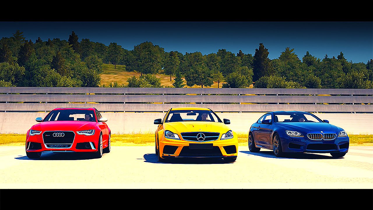 Mercedes Benz C63 Amg Vs Bmw M6 Vs Audi Rs6 Avant Drag
