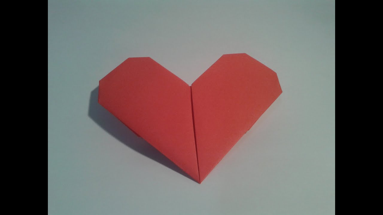Como hacer un coraz n de papel san valent n youtube - Como hacer un corazon con fotos ...