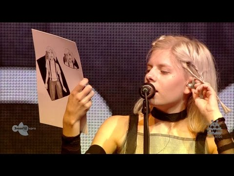Aurora Aksnes reads fan arts in Biddinghuizen, Netherlands 2016.8.21
