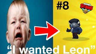kid starts crying after unlocking crow  Brawl Stars Funniest Craziest Reactions 8