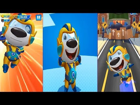 Talking Tom Hero Dash Android Gameplay #6 - Superhero HANK New Outfit Unlocked