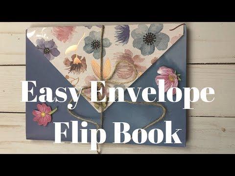 Easy 2 Envelope Flip Book - DIY - For a Penpal - Tutorial for Beginners