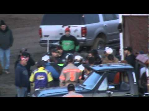 Pit Area Fight at Five Mile Point Speedway