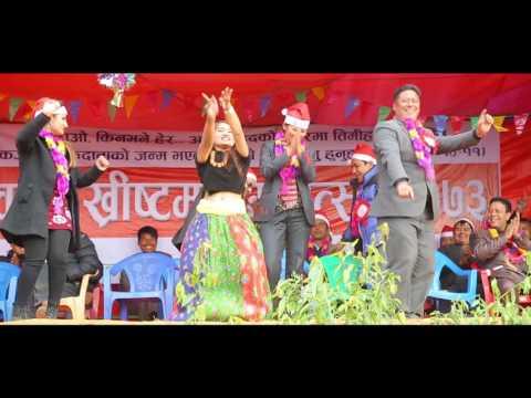 Christams Song Mukta Hunchhu Ma By Anju Panta In Dhading Satyadevi Christmas Program 2017