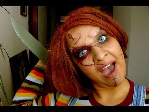 chucky Child\'s Play Halloween Mörderpuppe Tutorial make up - YouTube