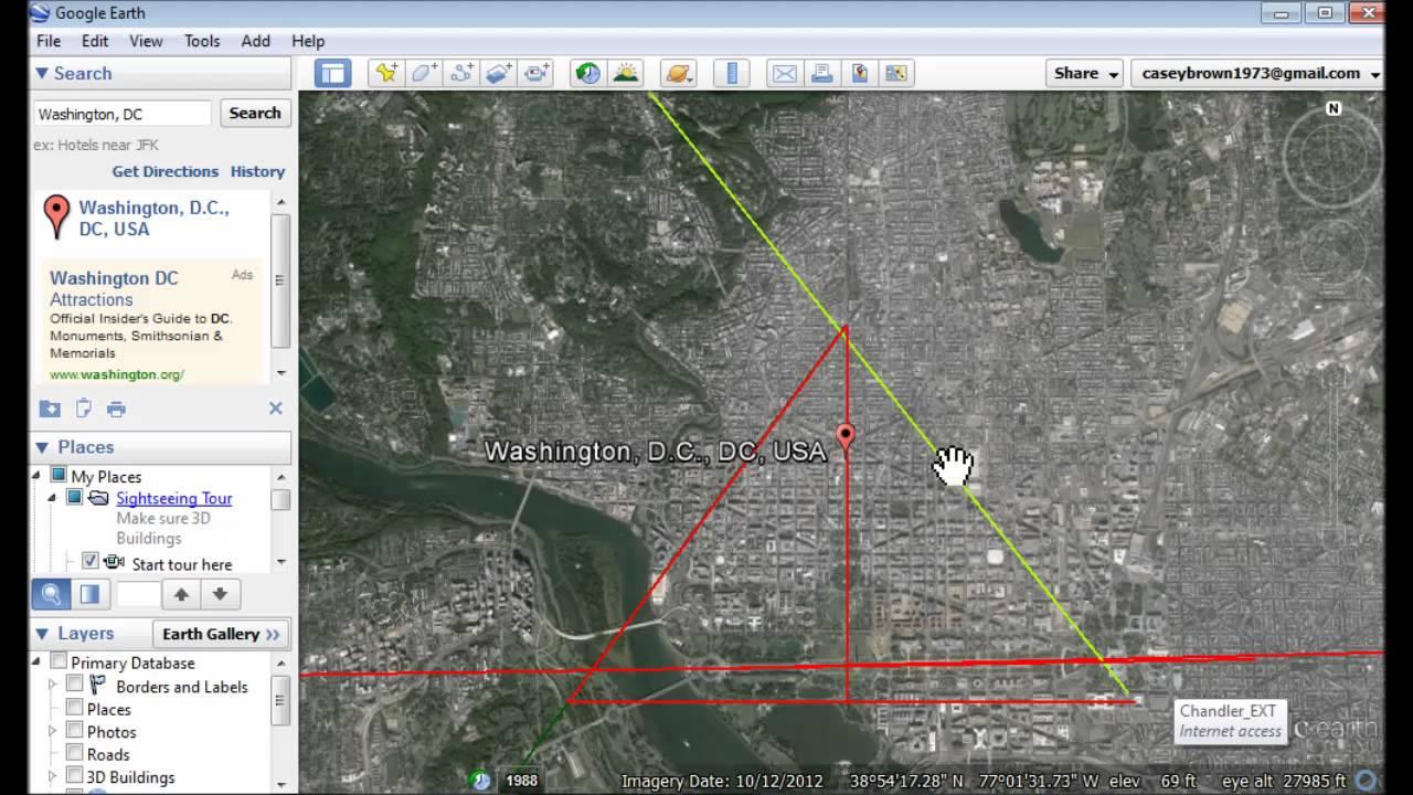 Washington DC Pyramid Has Same  Angles As Georgia - Washington dc pyramid map