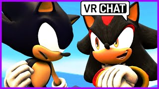 Dark Sonic meets Shadow in Vr chat SONIC IS MAD!