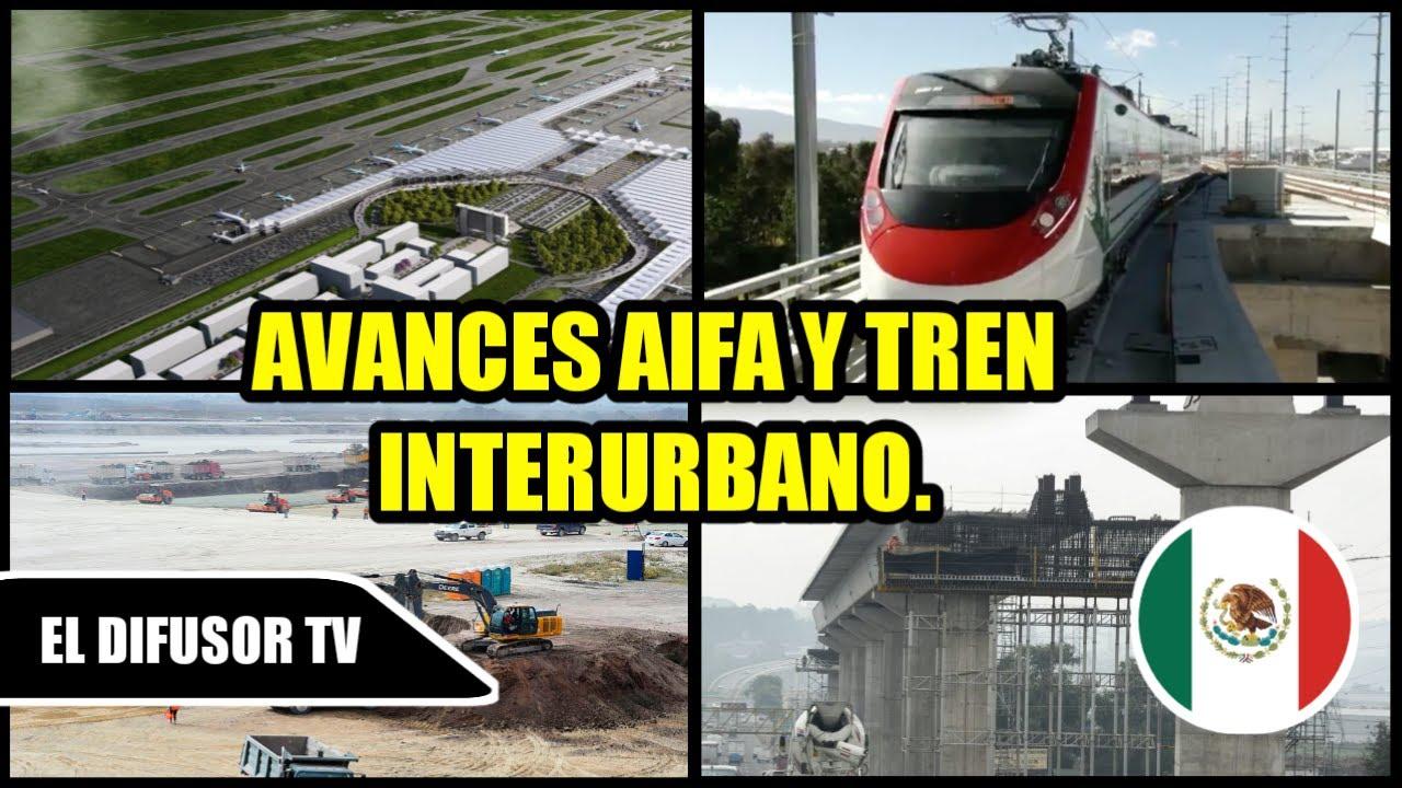 Avances del Aeropuerto Internacional Felipe Angeles y Tren Interurbano México Toluca, 19 de Octubre.