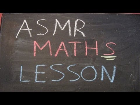 ASMR Maths Lesson Roleplay (with Chalk and Blackboard)