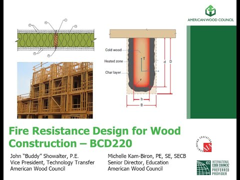 BCD220 - Fire Resistance Design for Wood Construction