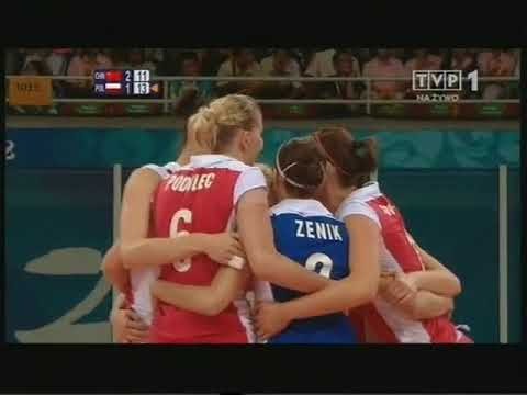 Olympic 2008 volleyball Poland - China Set 4