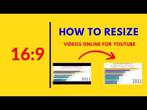 How To RESIZE Videos Online - Change Video ASPECT RATIO To 16:9 (For YouTube)
