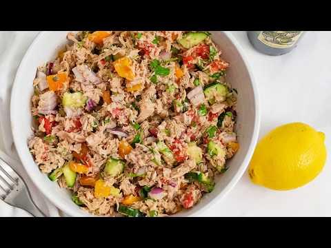Нет Mayo тунцом Рецепт Салата (Средиземное море)