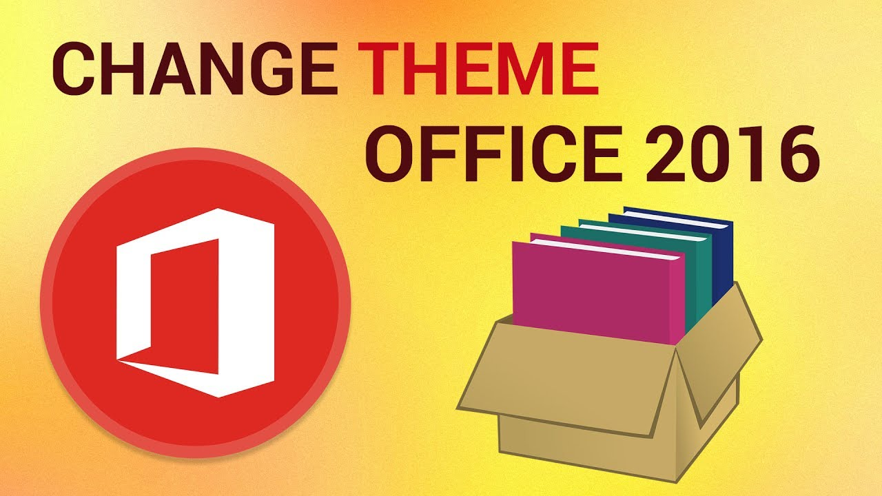how to change the office 2016 theme youtube