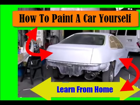 How To Paint A Car Yourself How To Paint Cars Learn From Home