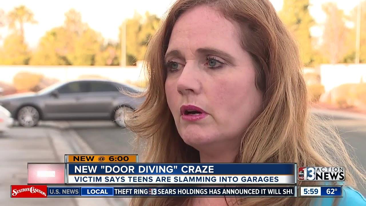 Door Diving Trend Leaves Garage Doors Smashed In